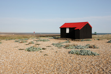 Rye harbour, East Sussex, Fishermans hut