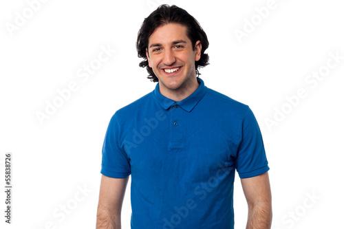 Handsome man over white background