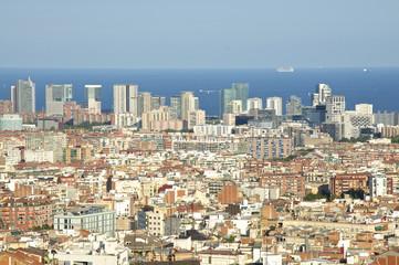 Blick auf die Skyline in Barcelona