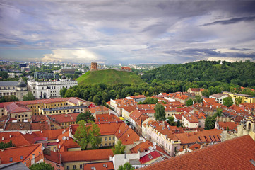 Bird's eye view of Vilnius old town