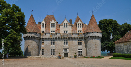 Perigord, the picturesque castle of Monbazillac in Dordogne