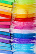 Colorful chalk pastels education, arts, creative