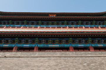 Zhengyangmen Gatehouse (Qianmen) in Beijing, China