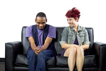 young crush between black male and white female