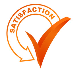 satisfaction sur symbole validé orange