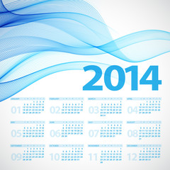 2014 Calendar. Vector illustration