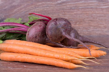 Red beets and carrots