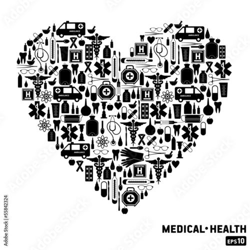 Medical icon background.