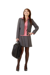 Cheerful business woma