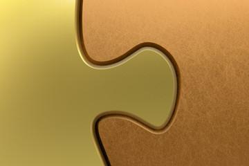 Puzzel Verbindung Gold Kupfer 3D