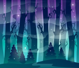Mysterious forest theme image 1