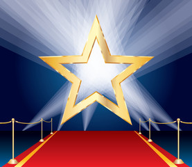 red carpet golden star