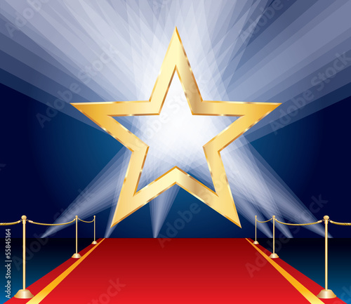 red carpet golden star