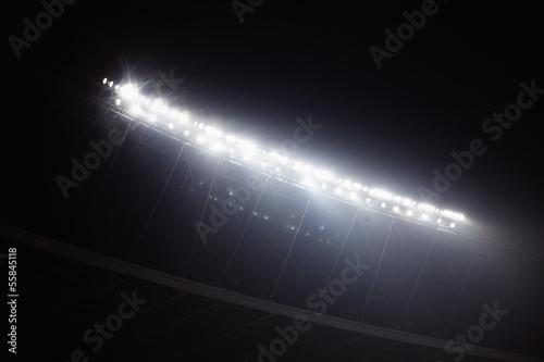 Stadium floodlights at night time, Beijing, China Poster