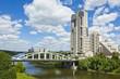 Moscow, Horoshevskiy bridge and modern skyscraper