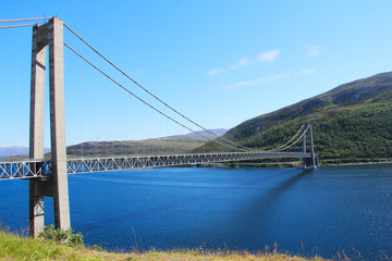 Bridge over Fjord in Norway