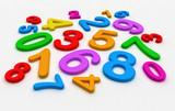 Fototapety numeri colorati random - scuola elementare