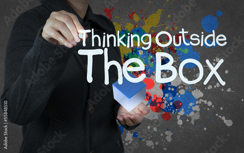 thinking outside the box as concept