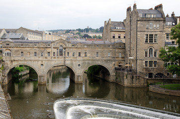 Historic Pulteney Bridge, Bath, England