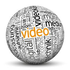 Kugel, Video, Wörter, Text, Textur, TagCloud, beschriftet, 3D