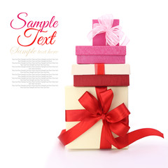 Gift boxes isolated on white background