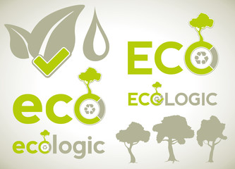Icons and symbols for ecology infographics