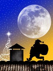 Santa Claus silhouette