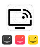 Remote control icon. Vector illustration. poster