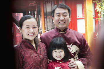 Family Portrait in traditional clothing