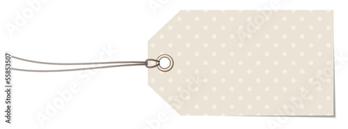 Beige Label Dots Pattern