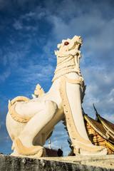 Singh statue  wat chedi liam chiangmai Thailand