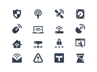 Wireless and network icons