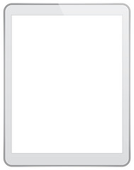 White Business Tablet Isolated On White Background