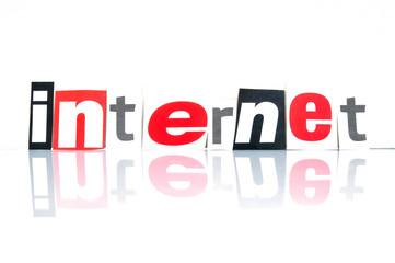 Internet Schriftzug