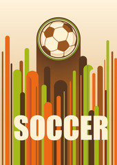 Colorful soccer poster.
