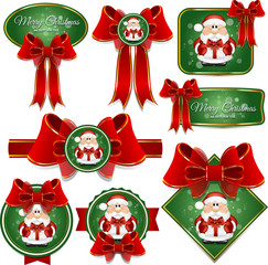 Christmas and Happy New year labels