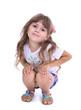 Little girl posing isolated on white