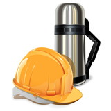 Vector Thermos with Helmet