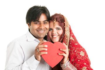 Indisches Paar mit Herz