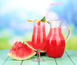 Glass of fresh watermelon juice,
