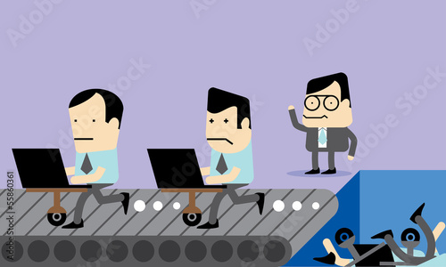 Employee Selection Vector Cartoon