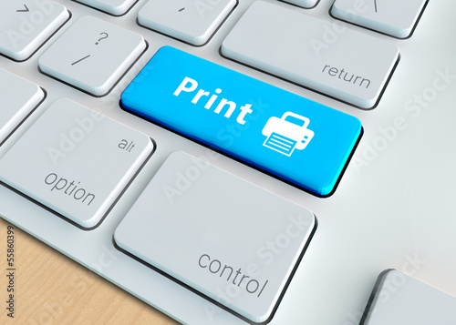 Print button on Modern Computer Keyboard