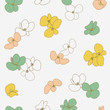 Cute flowers pattern. Seamless vector