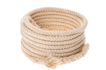 isolated Twisted thick rope