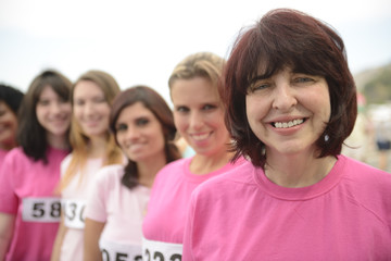 Breast cancer charity race: Women in pink