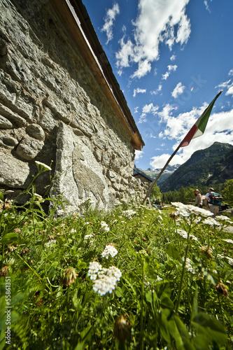 Casa di pietra in Val di Mello Poster