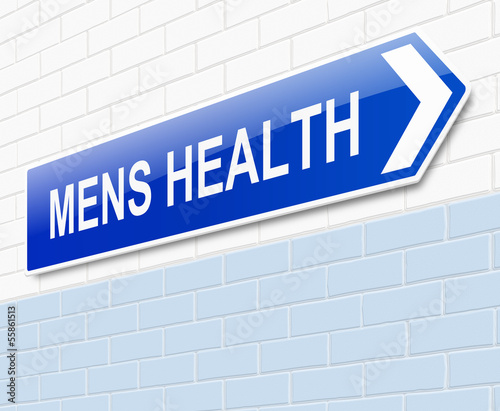 Mens Health sign.