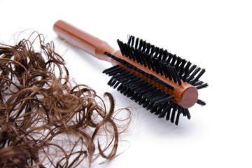 Haarbürste mit Haare