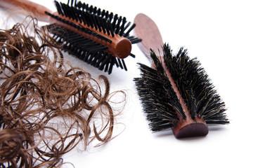 Haarbürste mit Haarlocken