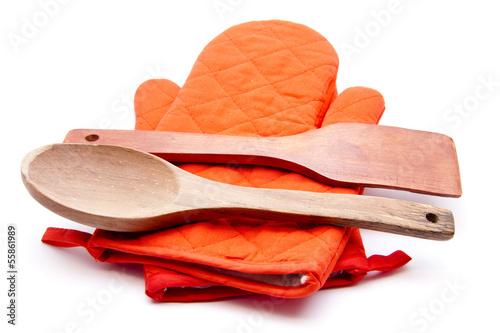 Holzlöffel mit Schaber